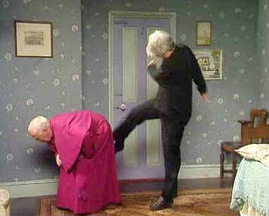 Kicking Brishop Brennan up the Arse - Father Ted
